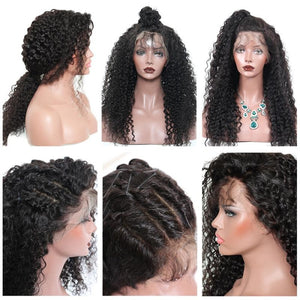 Upgraded 13X6 Deep Wave Lace Front Wig Virgin Hair