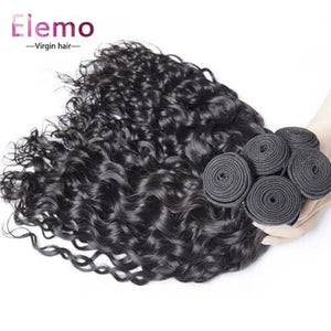 Water Wave 3 Bundles With 360 Lace Frontal Hair Brazilian Virgin