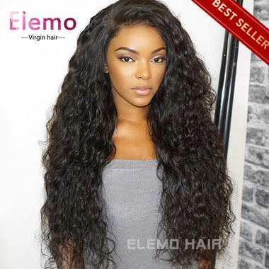 Water Wave 360 Lace Frontal Wig With Baby Hair Virgin