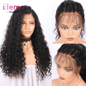 Water Wave Lace Closure Wigs 10-24 Inch Virgin Hair