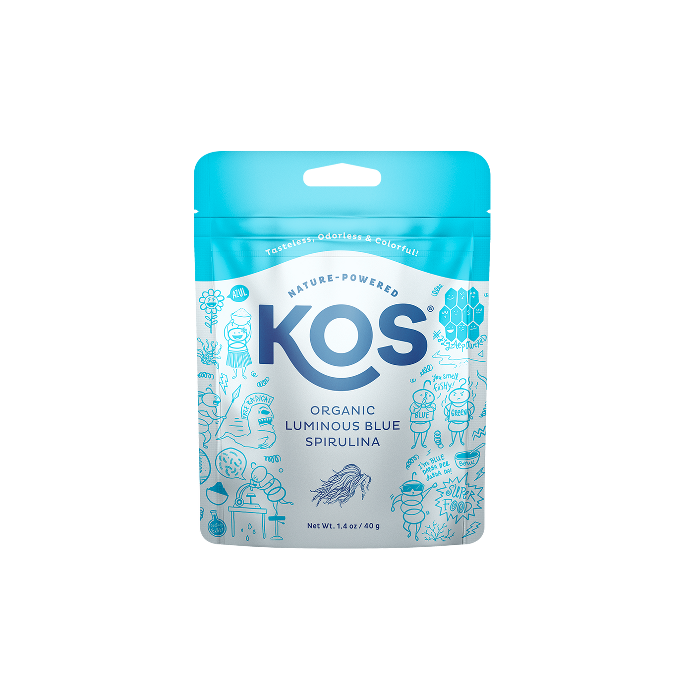 KOS® Organic Luminous Blue Spirulina