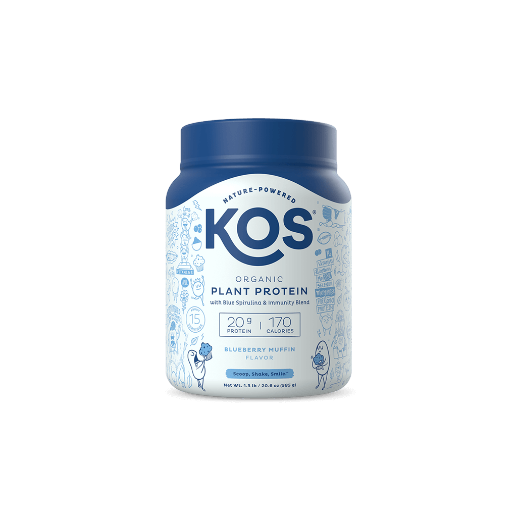 KOS Organic Plant Protein, Blueberry Muffin, 15 servings
