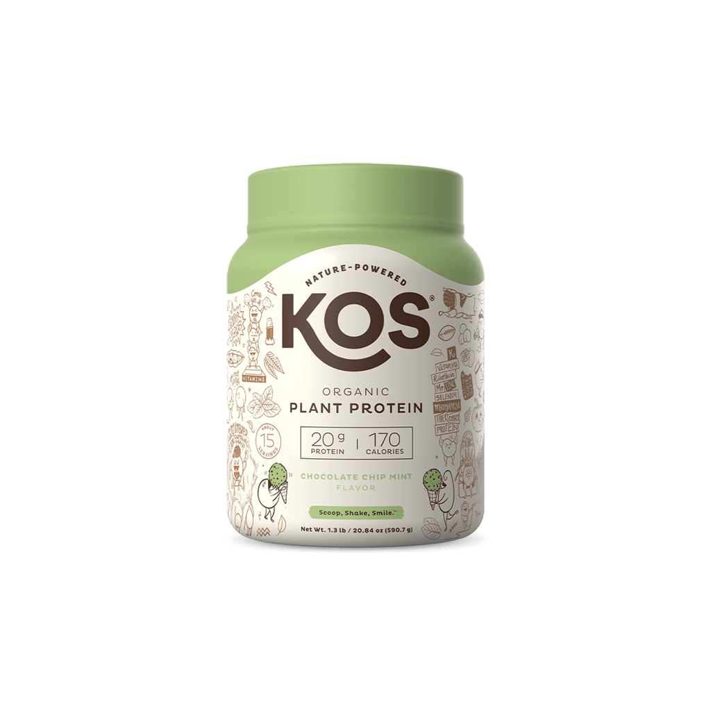 KOS Organic Plant Protein, Chocolate Chip Mint, 15 Servings