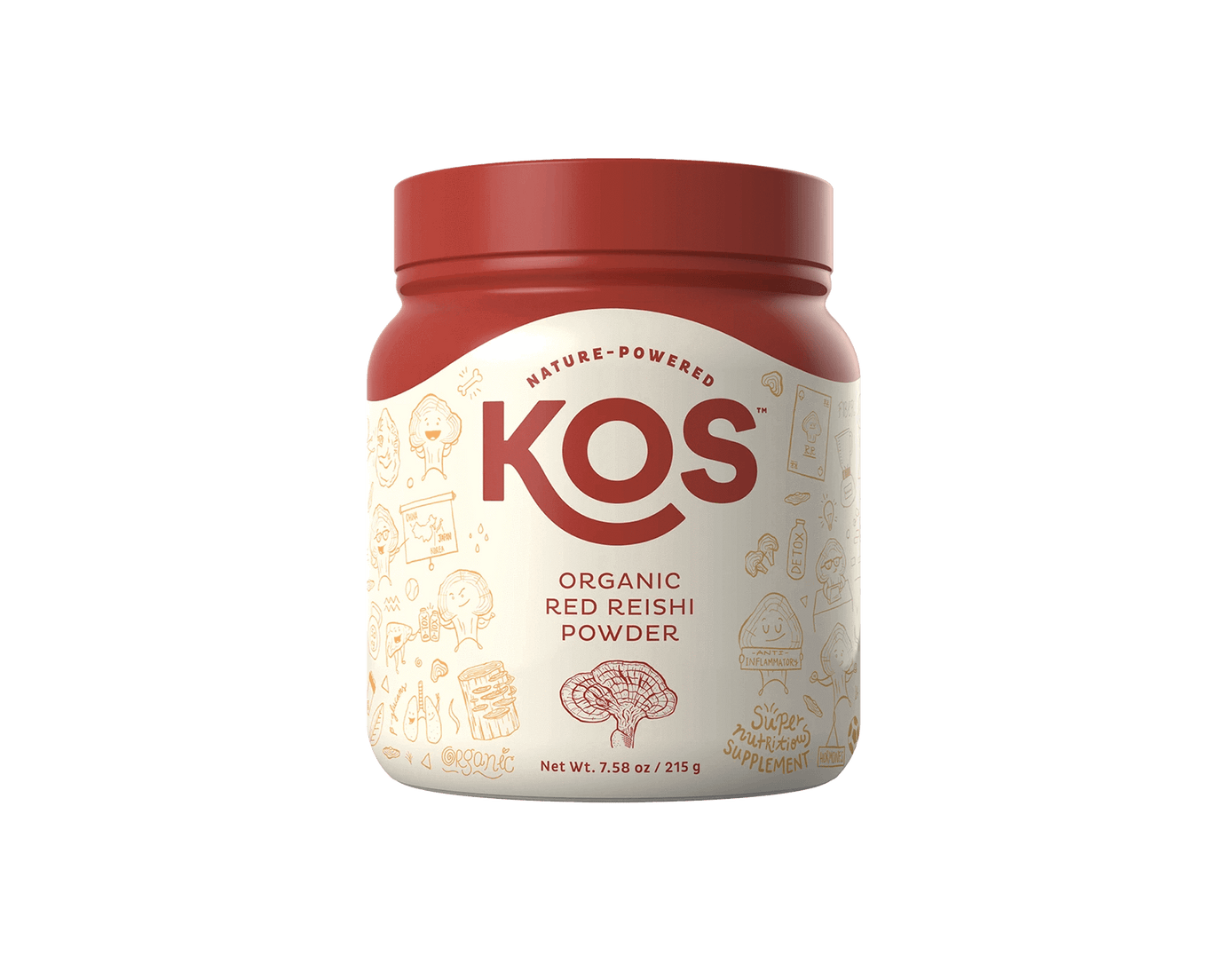 KOS Organic Red Reishi Powder