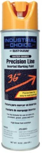 Industrial Choice 203033 Marking Spray Paint, 17 Oz, Caution Yellow
