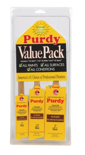 Purdy 140853100 Paint Brush Value Pack, 3-Piece