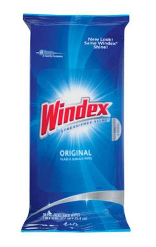 Windex 70232 Flat Pack Wipes, 28 Count