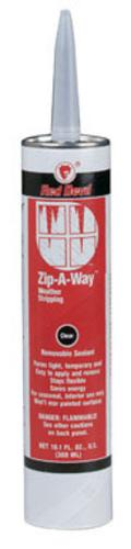 Red Devil 0606 Zip-A-Way Removable Sealant Clear 10.1 Oz.
