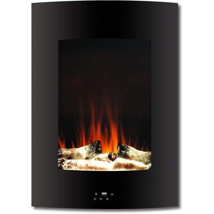 Cambridge CAM19VWMEF-2BLK Vertical Wall-Mount Electric Fireplace, Black