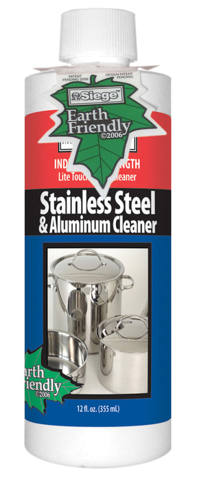 Siege 762L Stainless Steel & Aluminum Cleaner, 12 Oz