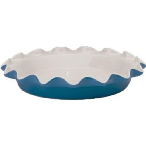 HIC RL3BB Ceramic Rose's Perfect Pie Plate, Bayberry, 9