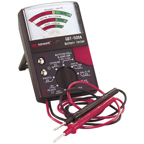GB GBT-500A Analog Battery Tester, 1.25 Volt