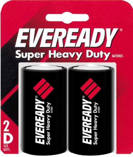 Eveready 1250SW-2 Super Heavy Duty Battery, 1.5 Volt, 2 /Pack