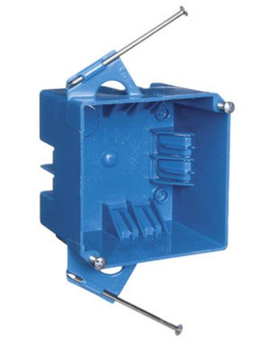 Carlon B432AR-UPC PVC Junction Blue Box With Nails, Blue, 32 Cu. In.