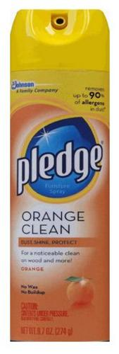Pledge 72373 Furniture Polish Spray, Orange Scent, 9.7 Oz