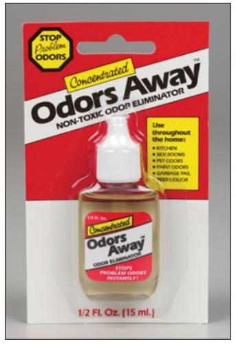 Odors Away 71000 Liquid Air Freshener Unscented Bottle, 0.5Oz