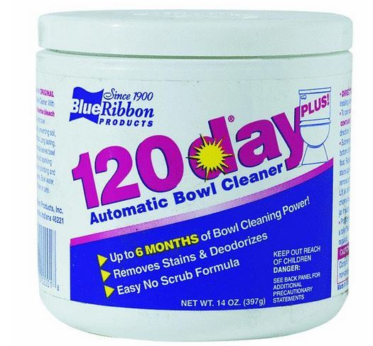 Blue Ribbon 02001 120 Day Toilet Bowl Cleaner, 14 Oz