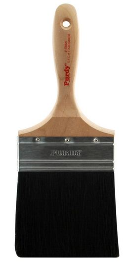 Purdy 144400040 Swan Black China Bristle Straight Paint Brush, 4