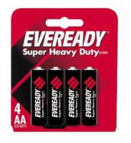 Eveready 1215SW-4 Super Heavy Duty Batteries, AA, 4 / Pack