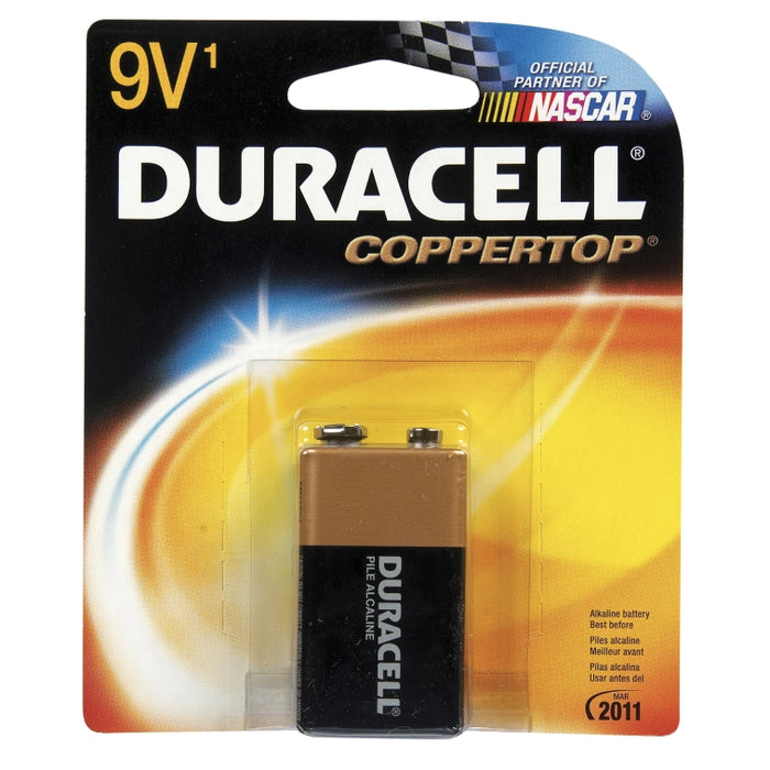 Duracell Coppertop MN1604BZ Alkaline Battery, 9 Volt