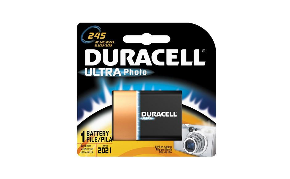 Duracell DL245BPK Photo Battery, 6 Volt