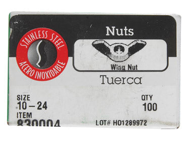 Hillman 0830004 Wing Nuts, Stainless Steel, Box 100