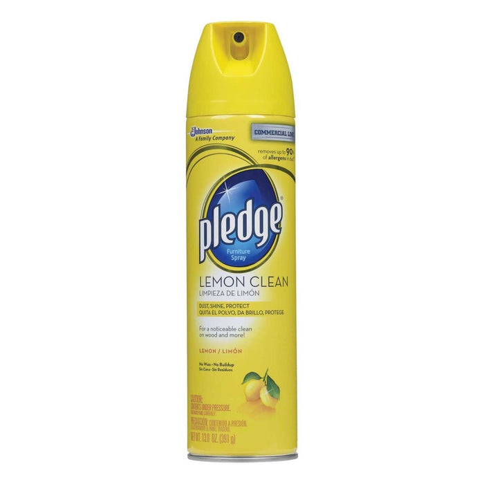 Pledge 72660  Furniture Polish Spray, Lemon Scent, 13.8 Oz.