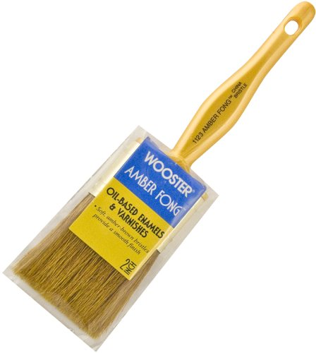 Wooster 1123-2 Amber Fong Flat Paint Brush, 2