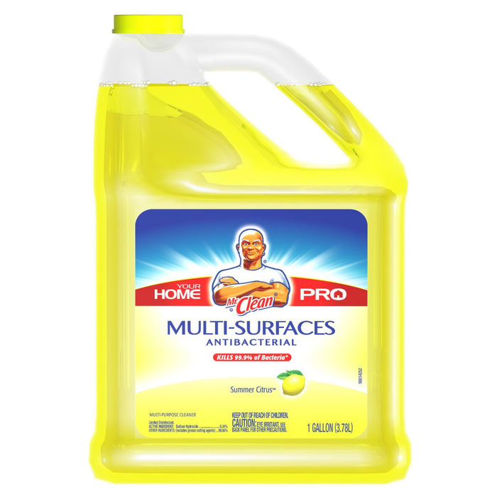 Mr. Clean 23123 Antibacterial Multi-Surface Cleaner, Citrus, 1-Gallon