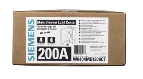 Buy siemens w0404mb1200ct - Online store for rough electrical, main breaker load centers in USA, on sale, low price, discount deals, coupon code