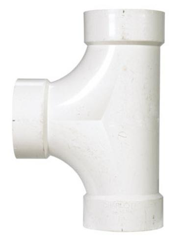 Charlotte Pipe & Found PVC004480800HA Two-Way Cleanout Tee 4