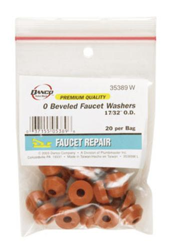 Danco 35389W Faucet Washer, Rubber, Bag / 20