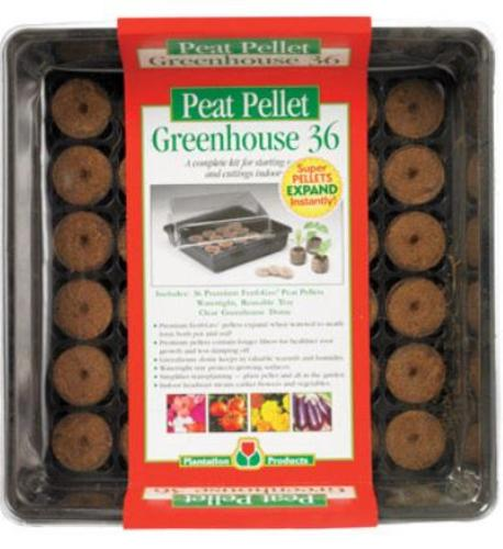 Peat Pellets P036 Peat Pellet Greenhouse Tray With Dome, 36 Count