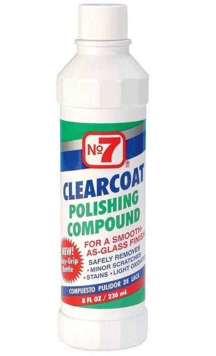 NO 7 06610 Clearcoat Polishing Compound, 8 Oz