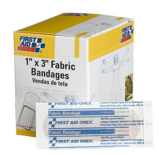 First Aid Only G-121 Adhesive Fabric Bandages, 1