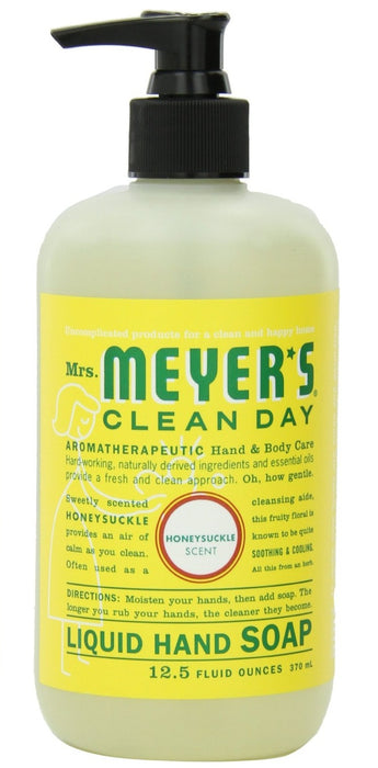 Mrs Meyers Clean Day 17425 Liquid Hand Soap, Honeysuckle Scent, 12.5 Oz