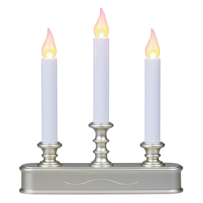 Celebrations FPC1230P Battery Operated Three Tier Candle, Pewter Base