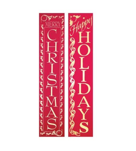 Holiday Trims 7911ACE Velvet Christmas Banners, 60
