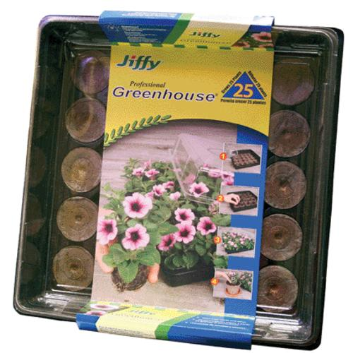 Jiffy 5032 All-In-One Greenhouse Kit, 16/Pack