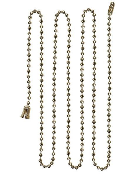 Cooper Wiring BP331BB Ball Lamp Chain With End Bell and Connector, 3'