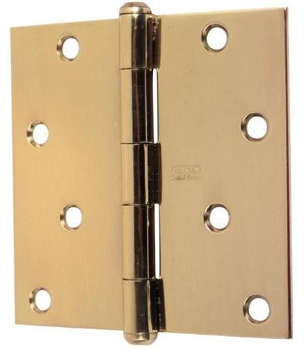 Stanley Residential Door Hinges, Bright Brass, 3.5