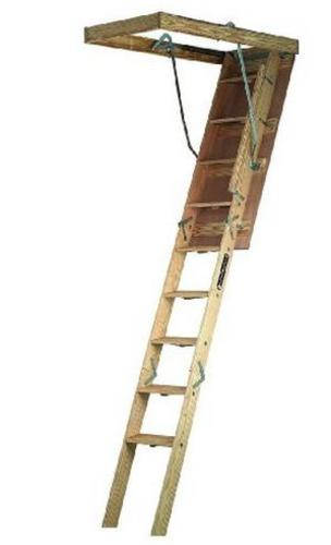 Louisville Ladder CS224P Folding Wide Attic Ladder, 22.5