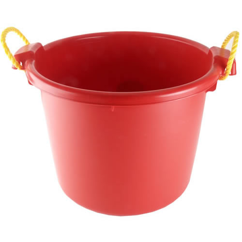 Fortex/Fortiflex MB-70R Multipurpose Barn Bucket, 70 Qt, Red