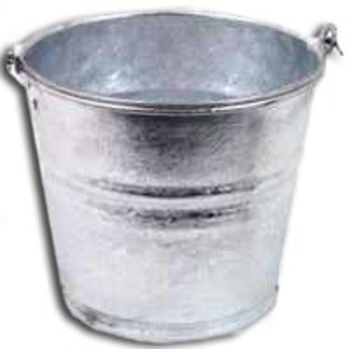 Behrens 1204 Hot Dipped Metal Water Bucket, 4 Quart