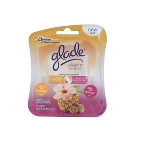 Glade 70498 PlugIns Scented Oil, Hawaiian Breeze & Vanilla Passion Fruit