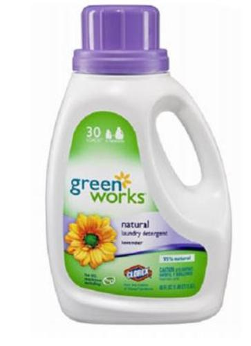 Green Works 30363 Natural Laundry Detergent, Lavender, 45 Oz