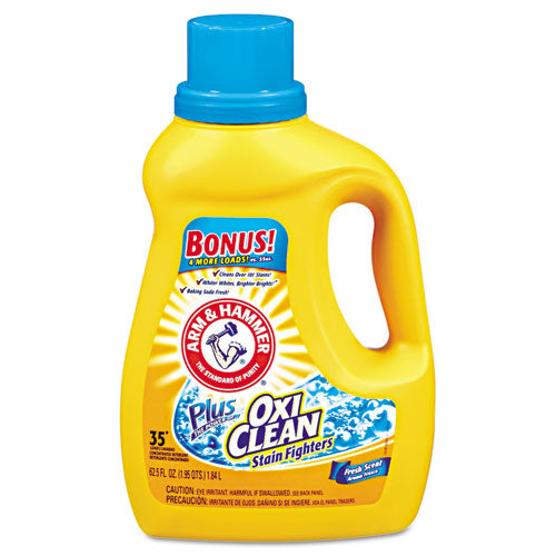 Arm & Hammer 09553 OxiClean Liquid Laundry Detergent, Fresh Scent, 62.5 Oz.