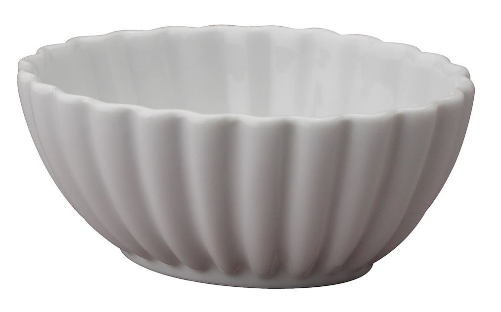 HIC 98029 Porcelain Scalloped Parfait Dish, 4