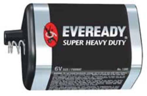 Eveready 5008 Heavy Duty Industrial Batteries, 6 Volt Lantern