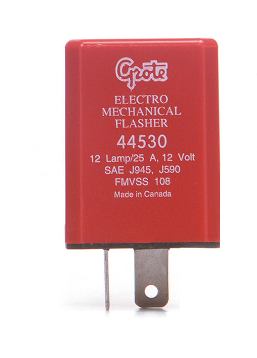 Grote 80111 12 Lamp 2 Prong Electro Mechanical Flasher 60 120 FPM